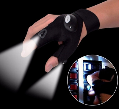 LED Torch Glove Night Fishing Finger Light Rescue Tools Torch Flashlight