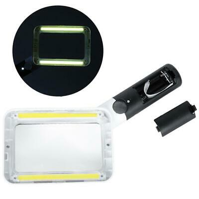 COB Integrated Reading Magnifier 2 LED Light 2X Handheld Magnifier Leselupen