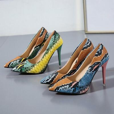Women Bling Pointed Toe Pumps High Fashion High Heels 10cm Party Shoes Sexy R1E8