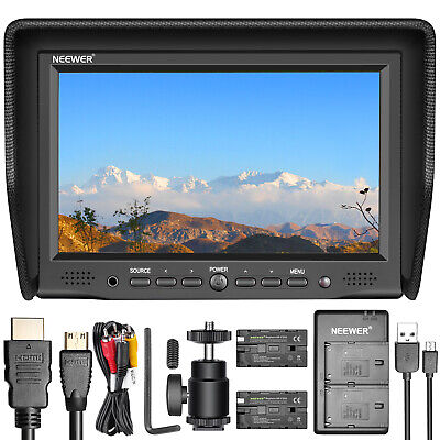 Neewer 7 inches On-Camera Field Monitor with VGA/AV/HDMI Input