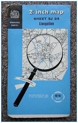 ORDNANCE SURVEY OS 2.5in MAP, 1:25000 SCALE, DATED 1966 - LLANGOLLEN