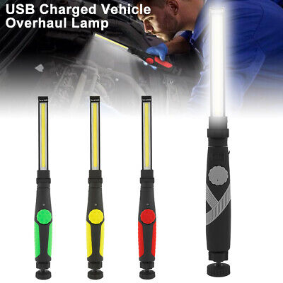 COB LED Work Light Magnetic Torch Rechargeable Inspection Lamp Flexible Cordless