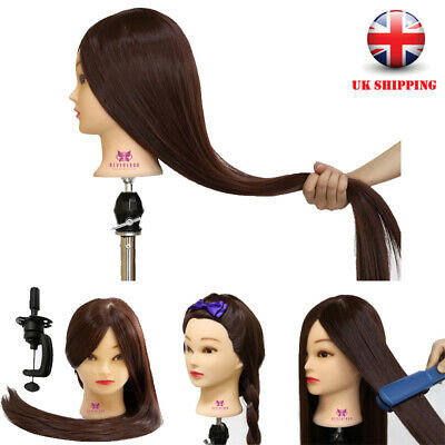 30 Inch100% Synthetic Hair Hairdressing Training Head  Mannequin Doll With Clamp
