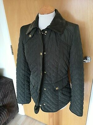 Ladies LAURA ASHLEY Jacket Size 8 Olive Green Quilted Casual Country