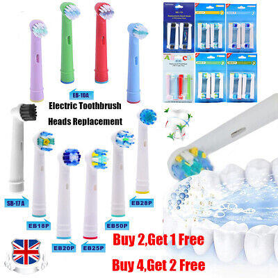 4PCS Electric Toothbrush Replacement Brush Heads For Oral B Bruan Kids Adults UK