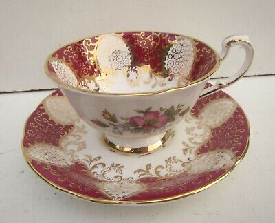 Vintage Paragon Decorative Cup & Saucer 'Her Majesty the Queen' Fine Bone China