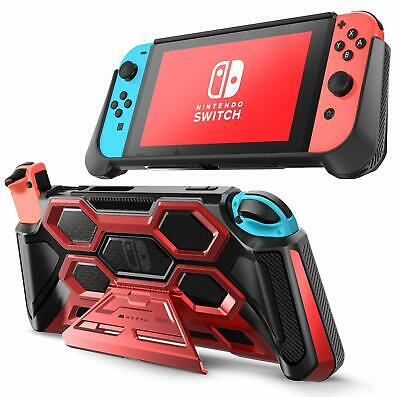 For Nintendo Switch Console, Original Mumba Hand Grips Cover with Kickstand Case