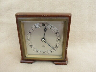Small Vintage Elliott 8 Day Mantel Desk Clock