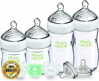 NUK Simply Natural Baby Bottle Newborn Gift Set 5 Ounce & 9 Ounce
