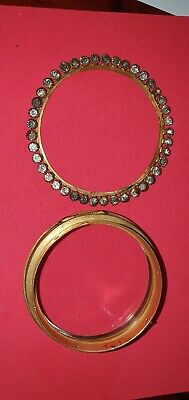 Ornate French Clock Bezel With Glass and outer jewelled ring