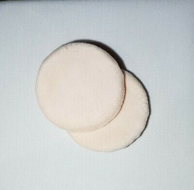 Velour Make Up Powder Puff with ribbon holder 2 Pack foundation applicator