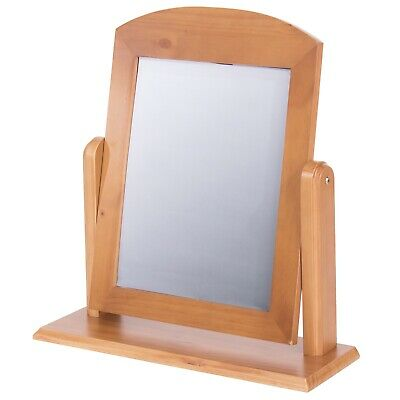 Edwardian Single Mirror - *FREE HOME DELIVERY* - ANTIQUE PINE
