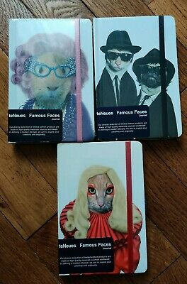 Famous Faces Takkoda Teneues 3 Carnets Note Lady Gaga Chacha Blues Brothers Neuf