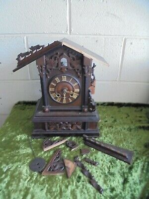 Antique Cuckoo Clock Marked Ghs In Need Of Restoration