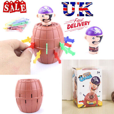 UK Children Funny Gadget Pirate Barrel Game Kids Toys Toy Luck Pop Up Great Gift