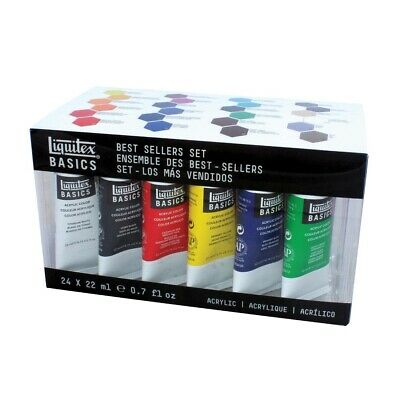 Liquitex Basics Acrylics 24-Color Set