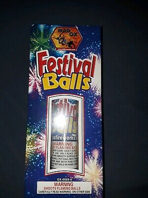 6 Pc Huge Firework Labels Festival Balls Loud.