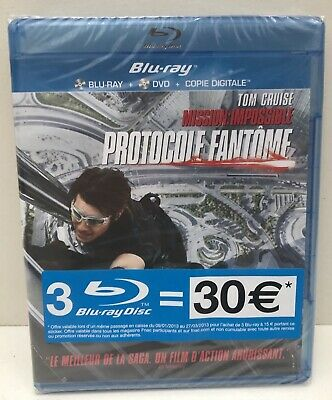 MISSION IMPOSSIBLE 4 - PROTOCOLE FANTÔME (2011) Tom Cruise - Blu-Ray + DVD Neuf