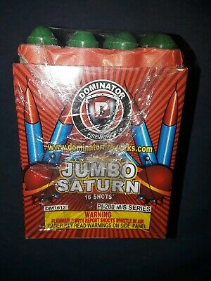 Jumbo Saturn 16 Shots Firework Label