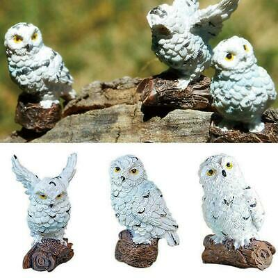 Resin Bonsai Micro Landscape Mini Owl Ornaments Vivid Decor Garden Animal H P7Y8