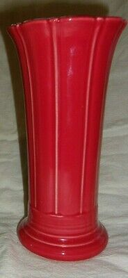 "1 Very RARE & Ltd. SCARLET Red Fiesta Small Flared 8"" Vase 1st Quality & Perfect"