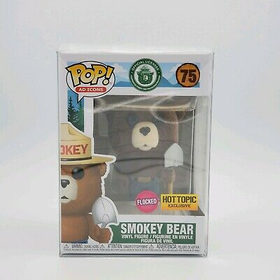 Funko Pop Smokey The Bear Flocked Hot Topic Pre-order + Protector Ships Fast