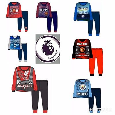 Kids Football Pyjamas Childrens Girls Boys Pyjama PJ Set Age 3-12 Years
