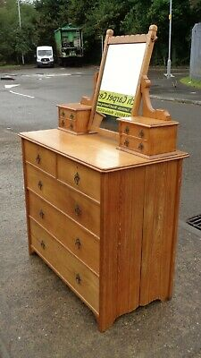 Super Quality Arts & Crafts Dressing Chest   Repolished    Delivery Available