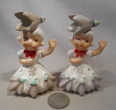 Vintage Napco Flower Girls of The Month January S&P Shakers