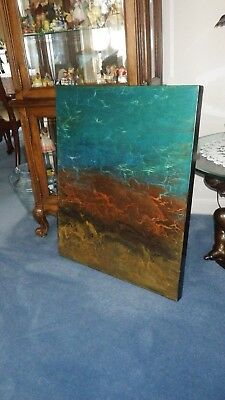 """OIL PAINTING BY LISTED ARTIST LILIANA GRAHAM SIGNED 24"""" X 30"""" with Cert. of Auth"""
