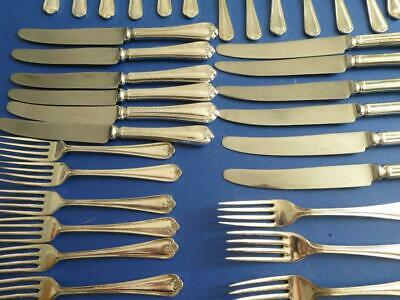 Job Lot 48 Sheffield Silver Plated Cutlery Jesmond Pattern, Knives Forks, Spoons