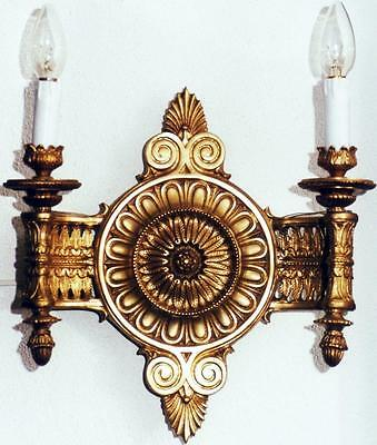 Gold Brass Candles Wall Lamp Chandelier Chandelier Applique Antique Baroque
