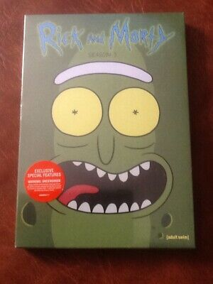 Rick and Morty: The Complete Third Season (DVD, 2018, 2-Disc Set) NEW