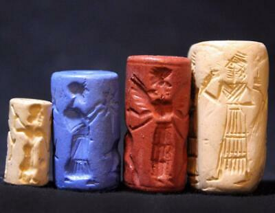 ANCIENT CYLINDER SEAL SET #21 stone replicas of ancient cylinder seals