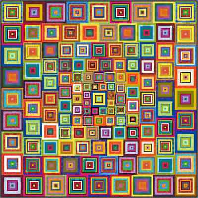 """APOCALYPSO - 73"""" x 73"""" - Pre-cut Quilt Kit by Quilt-Addicts Double"""