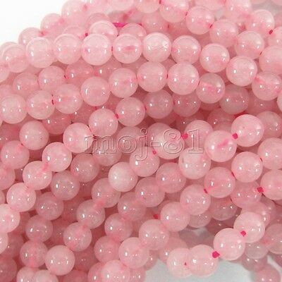 "8mm Natural Rose Quartz Round Gemstone Pink Loose Beads 15"" Strand AAA"