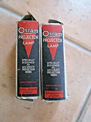 2 Very Old Osram Projector Lamps - Wrapped - Marked Goverment Property