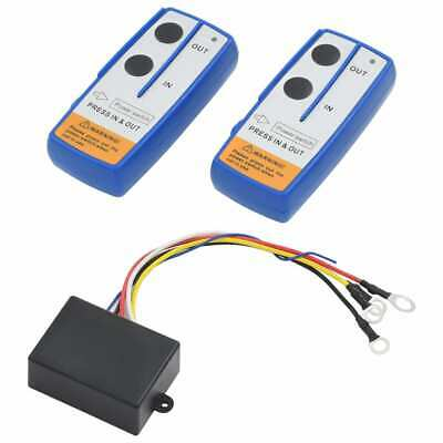 vidaXL 2x Wireless Remote Controls for Winch with Receiver Car Crawler Part