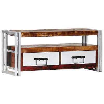 vidaXL TV Cabinet 90cm Solid Reclaimed Wood HiFi Stereo Stand Media Centre Unit