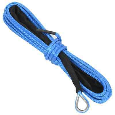 vidaXL Winch Rope Blue 5mmx9m High Strength 2300kg Nylon Cable Synthetic Line