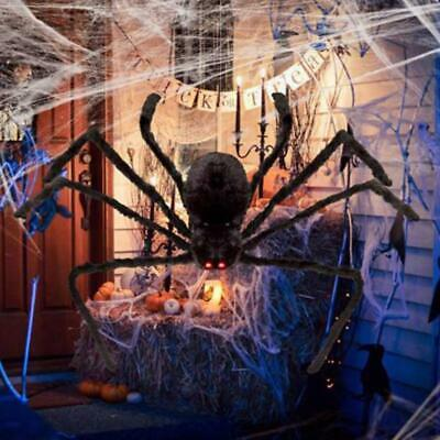 125CM/6.6FT Plush Giant Spider Decoration Halloween Haunted House Garden Props