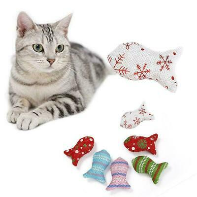 1pcs Cat Toys Christmas Mouse Catnip Pets Kitten Teaser Supply Interactive B8E7