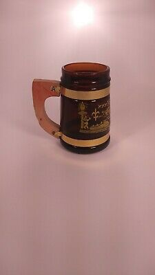Vintage New Orleans Stein With Wood Handle