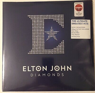 Elton John Diamonds Lp 2 Lp Ultimate Greatest Hits Translucent Blue Vinyl