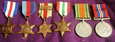 Set Of 6 Ww11 Military Medals  With Photo Of Owner J.r.gaunt Birmingham England
