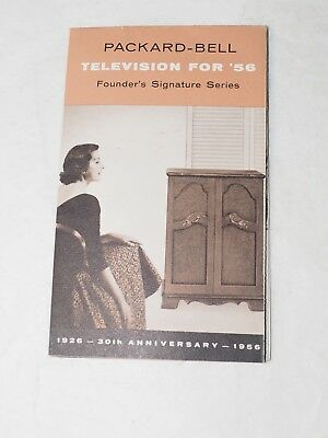 Packard-Bell Television's for the 1956 Founders Signature series Pamphlet