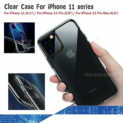 Transparent TPU Case For iPhone 11/Pro/ Pro Max ShockProof Protective Cover UK