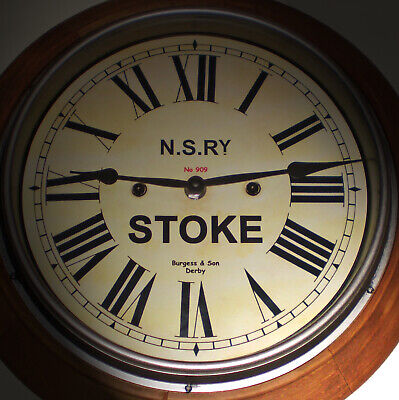 GWR Railway Clock, Victorian Style Wooden Surround Clock, Dial Made to Order.