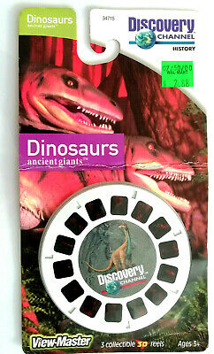 3x VIEW MASTER REEL / DINOSAURS / ANCIENT GIANTS / SEALED / DISCOVERY CHANNEL
