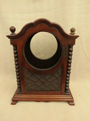 Large Antique Carved Mahogany Barley Twist Clock Case